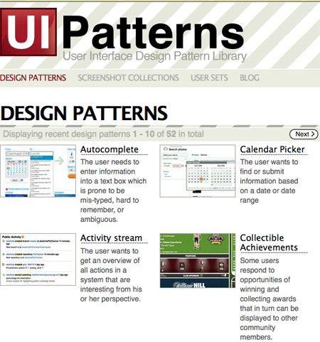 UI Patterns Website