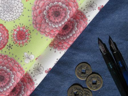 Custom Fabric: Chrysanthemum Pattern Swatches