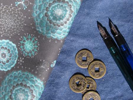 Custom Fabrics: Chrysanthemums on Black