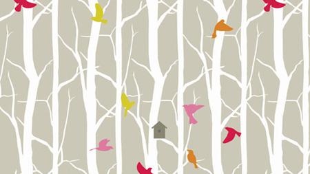 birdhouse pattern design by Trois Miettes
