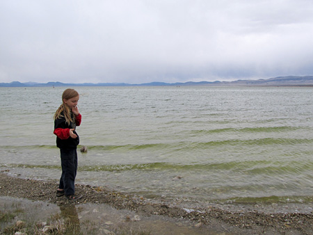Skipping Stones at Mono Lake 0876