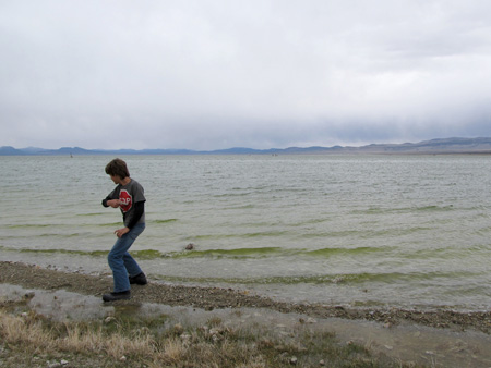 Skipping Stones at Mono Lake 0877