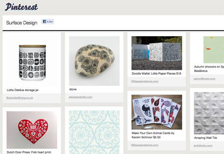 Sample Pinterest Board: Surface Design