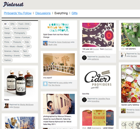 Pinterest.com Everything Page