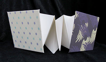 Heartwing and Mini Argyles Concertina Books