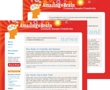 Website Design for Amazing Brain