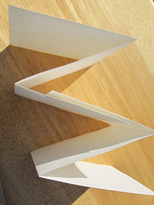 Make concertina book pages: glue the sections together