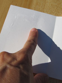 Make concertina book pages: spread the glue
