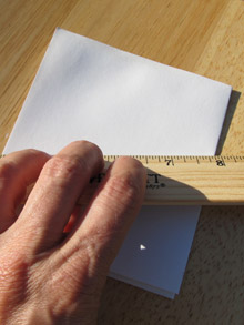 Make concertina book pages: burnish the pages