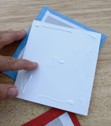 Fabric-covered concertina book: attaching the pages to the cover