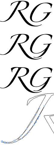 RG logo evolution