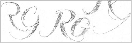 RG logo sketches
