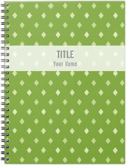 Customizable Project Notebook: Green Argyle