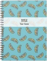 Customizable Project Notebook: Butterflies on Blue