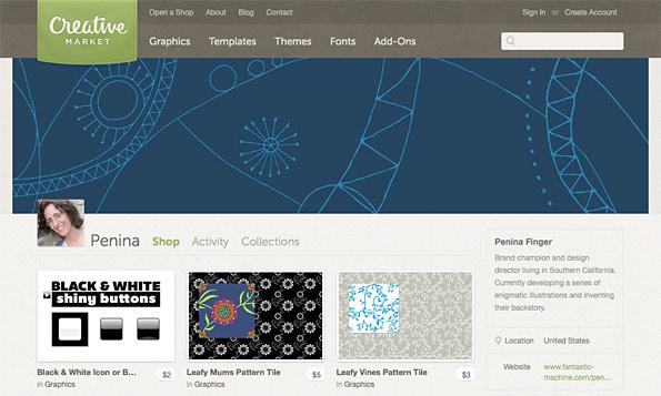 Penina's Creative Market Store Header