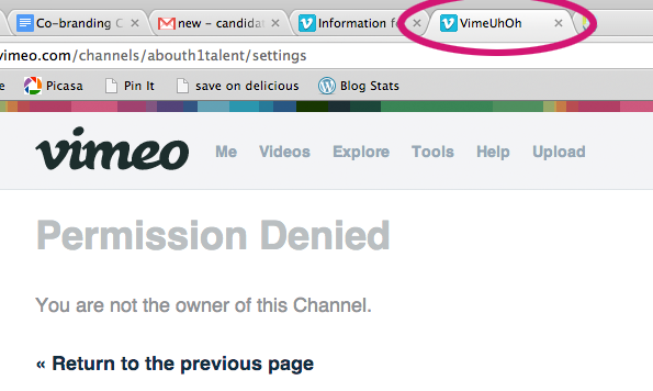 VimeUhOh: A great, brand-inspired error alert at Vimeo