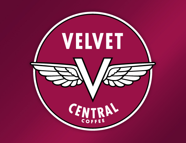 Logo for Velvet Central Coffee, by Penina S. Finger