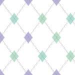 Lavender & Seaglass Tiny Argyles on White