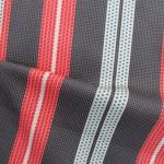 Pointillist Stripes - Hot Tangerine and Black