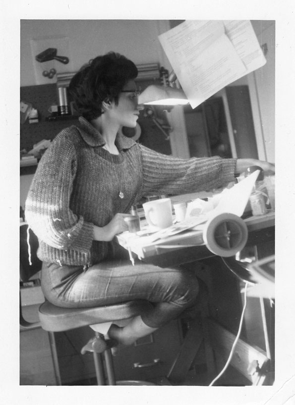 Graphic Designer, Julie Finger, about 1962