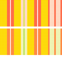 custom striped fabric for bench cushion - color test