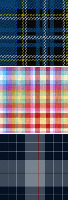 Fabric plaids by Peacoquette, on Spoonflower