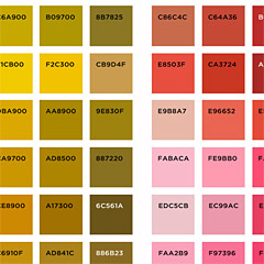 Spoonflower fabric color map