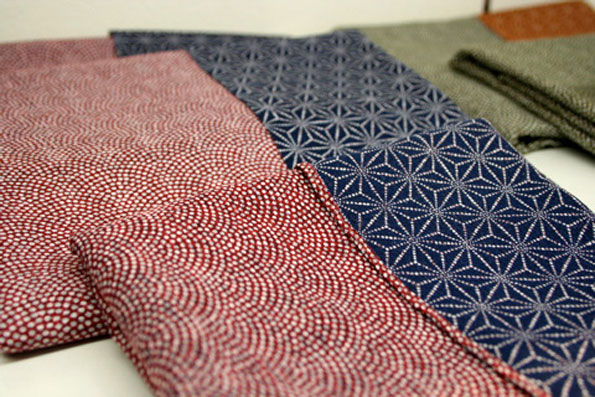 Traditional Furoshiki patterns at Karakusaya, a Kyoto shop