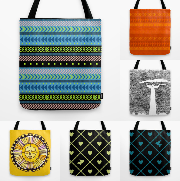 New tote bags on Society6 by Penina