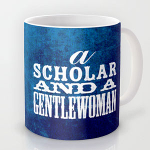 A Scholar and a Gentlewoman mug by Penina on Society6