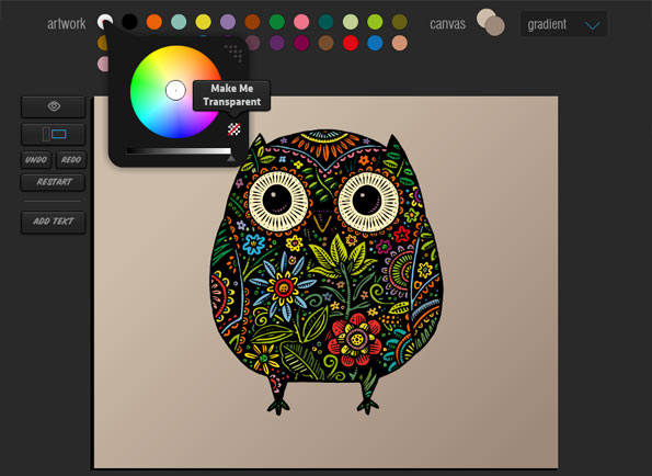 Remixing Patterned Owl, by John Woodcock on JuicyCanvas