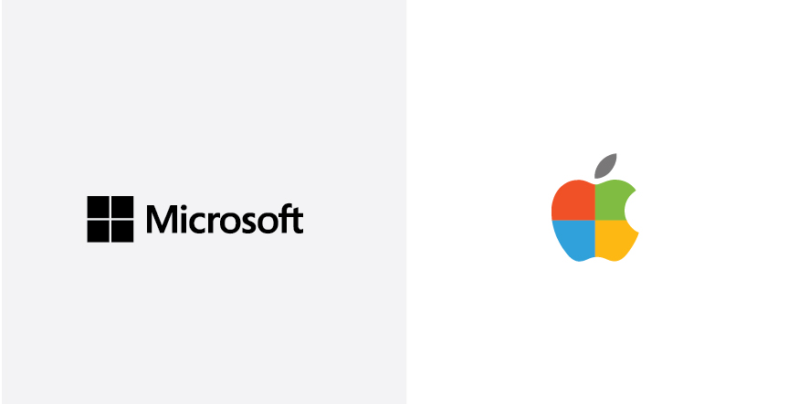 The Brand Color Swap (microsoft-apple) - Paola Rúpolo
