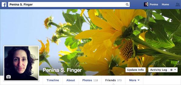 Penina's Facebook Profile 2014