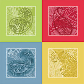 Paisley Cut-and-sew Napkin Set on Spoonflower