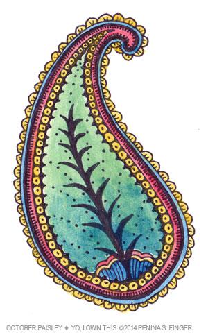 Paisley Watercolor Study by Penina S. Finger