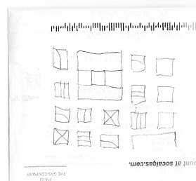 architectural surface design - perforated panel - sketch