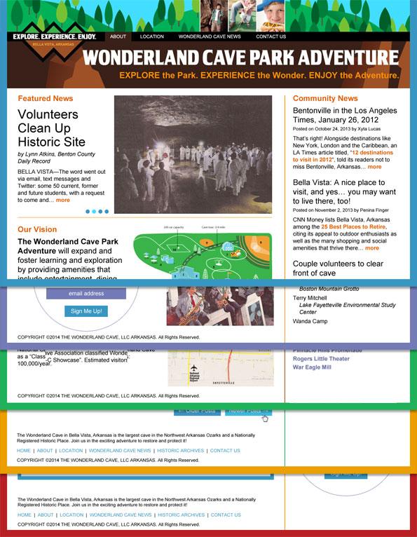 Website redesign: The Wonderland Cave