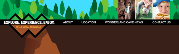 Website redesign: The Wonderland Cave