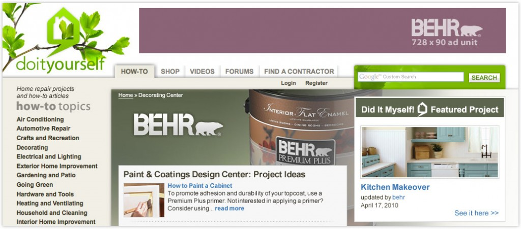 Native Advertising: Co-branded Web Ad for Behr Paints