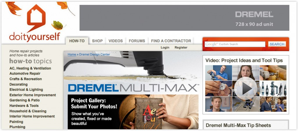 Native Advertising: Co-branded Web Ad for Dremel