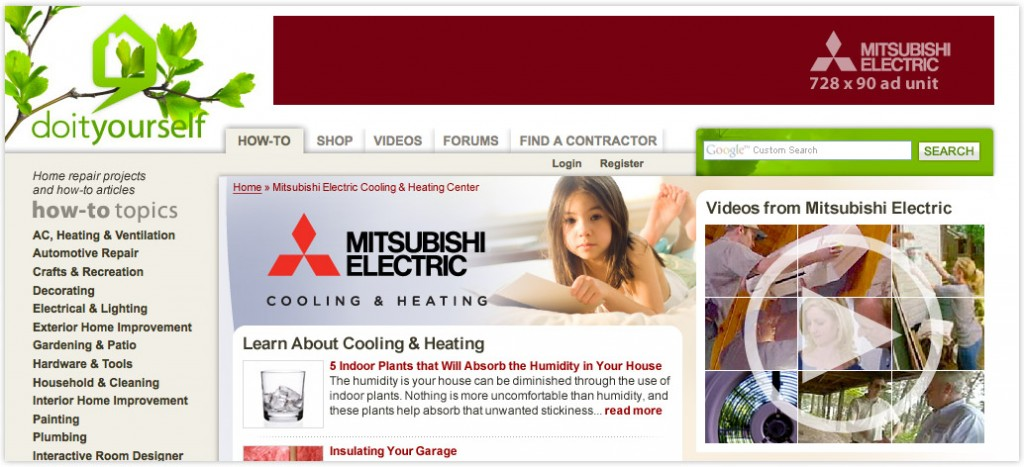 Native Advertising: Co-branded Web Ad for Mitsubishi