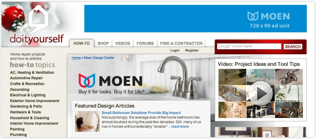 Native Advertising: Co-branded Web Ad for Moen