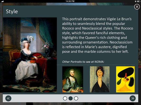 iPad app design - overlay page - Penina S. Finger