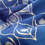 Fabric pattern: Ogee Garden (blue) (thumb) by Penina