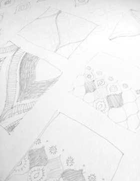 Sketches for Ogee Garden, by Penina