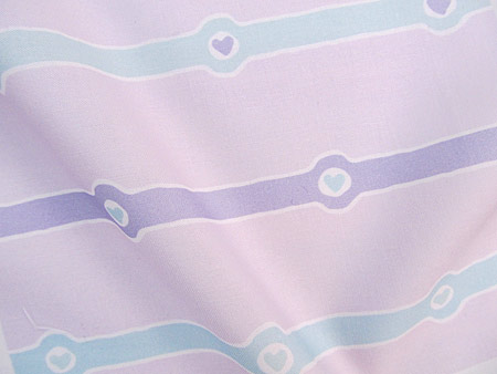 Horizontal Heartstripes: Lavender and Mint