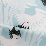 Get Heartwings (Turquoise, White, Black) fabric, wall coverings and giftwrap on Spoonflower