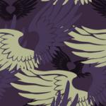 Camouflage Heartwings: Purple & Beige