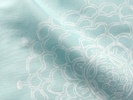 Seaglass Chrysanthemum II Fabric