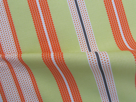 Pointillist Stripes - Tangerine and Lime Green